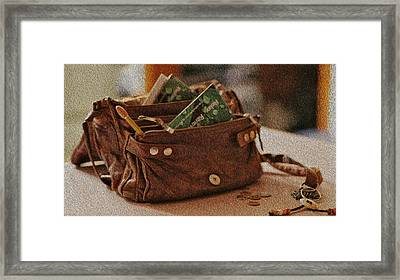 Ready For Work - Leather Pocketbook Framed Print by Crystal Harman