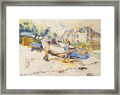 Ready To Fish Framed Print by Andre MEHU