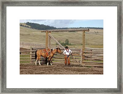 Ready To Go Outside Framed Print by Lee Raine