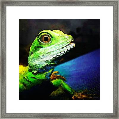 Ready To Leap - Lizard Art By Sharon Cummings Framed Print by Sharon Cummings
