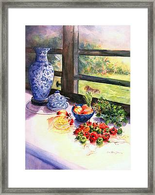 Ready To Marinate Framed Print by Estela Robles