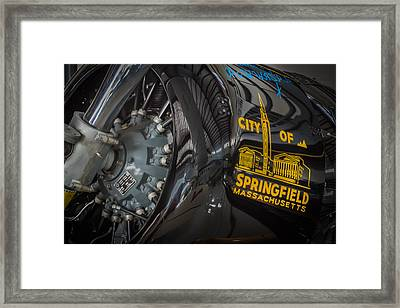 Ready To Race Vintage Aircraft  Framed Print by Rich Franco