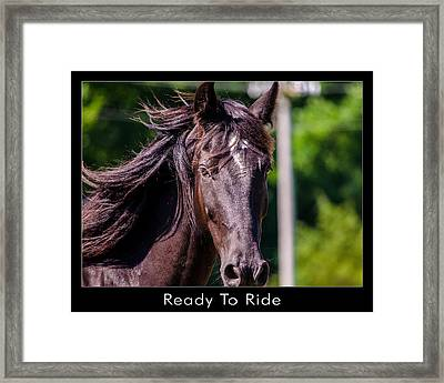 Ready To Ride Framed Print by Dan Holland