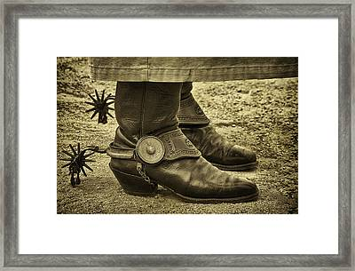 Ready To Ride Framed Print by Priscilla Burgers