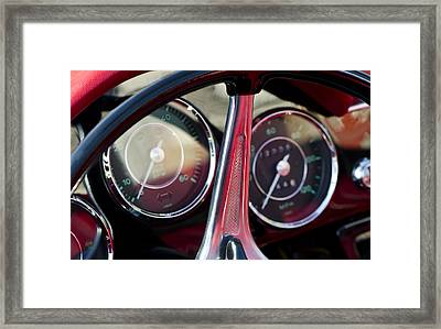 Ready To Roll - Vintage Porsche Car By Sharon Cummings Framed Print by Sharon Cummings