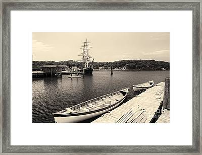 Ready To Sail Framed Print by George Oze