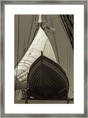 Ready To Save Black And White Sepia Framed Print by Scott Campbell