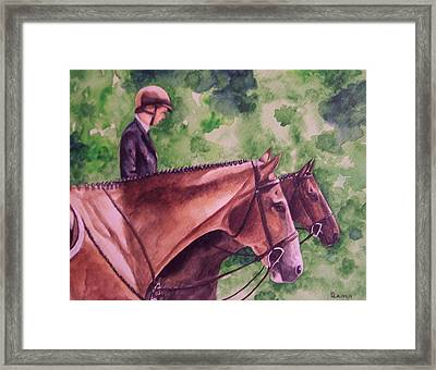 Ready To Show Framed Print