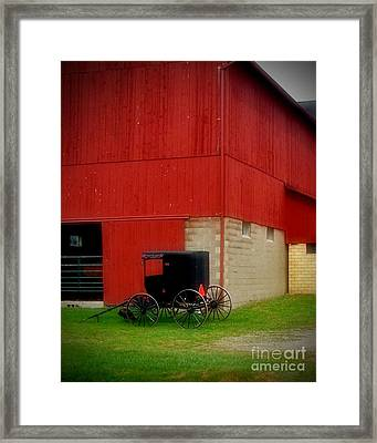 Readying The Buggy Framed Print by Desiree Paquette