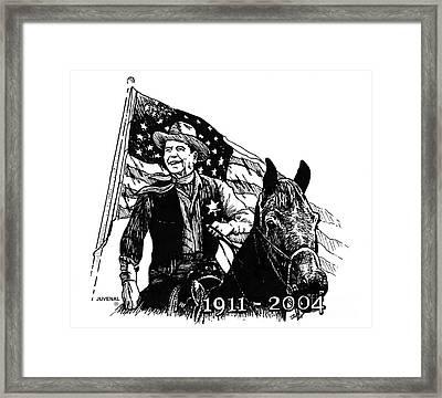 Reagan America's Sheriff Framed Print by Joseph Juvenal