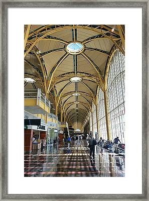 Framed Print featuring the photograph Reagan National Airport by Suzanne Stout
