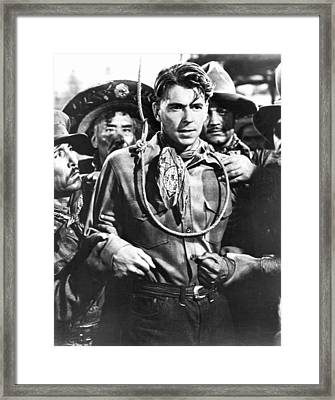 Reagan Western Film Still Framed Print by Underwood Archives