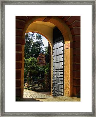 Real Alcazar Framed Print