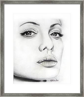 Real Angelina Framed Print by Atinderpal Singh