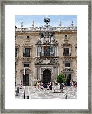 Real Chancilleria Granada Framed Print by Phil Banks