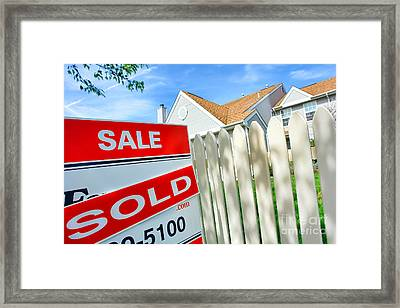 Real Estate Sold Sign Framed Print