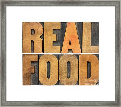 Real Food Framed Print by Marek Uliasz