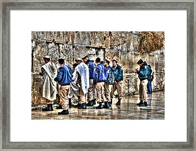 Framed Print featuring the photograph Real Homeland Security In Israel by Doc Braham