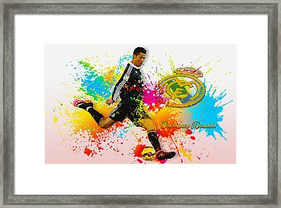 Real Madrid - Portuguese Forward Cristiano Ronaldo Framed Print