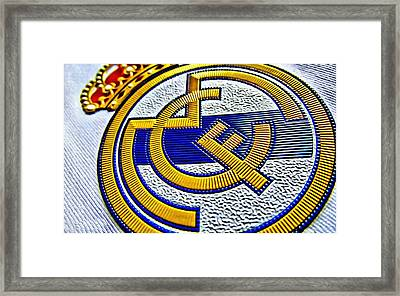 Real Madrid Poster Art Framed Print by Florian Rodarte