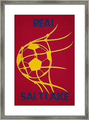 Real Salt Lake Goal Framed Print by Joe Hamilton