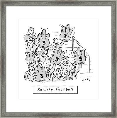 Reality Football -- A Group Of Cheering Fans Framed Print