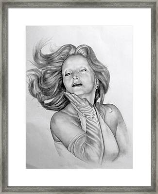 Framed Print featuring the drawing Really Darling by James McAdams