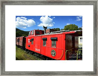 Really Red Caboose Framed Print by Thomas R Fletcher