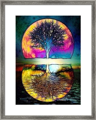 Realm Of Divine Knowledge Framed Print by The Feathered Lady