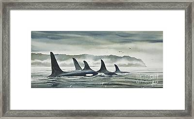 Realm Of The Orca Framed Print by James Williamson