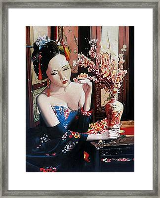 Realm Of The Senses Framed Print by Andrew Harrison