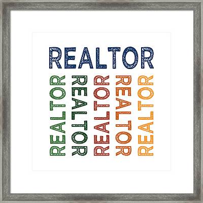 Realtor Cute Colorful Framed Print