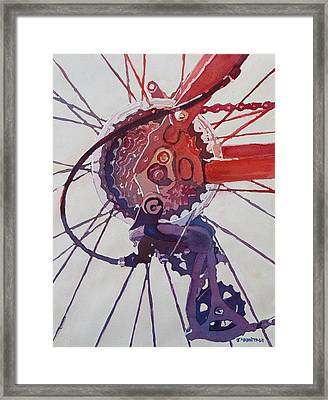 Rear Derailleur Framed Print by Jenny Armitage