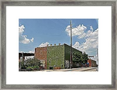 Rear Green Framed Print by Beverly Hammond