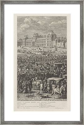 Rear Guard Of The Procession Of King Louis Xiv Of France Framed Print