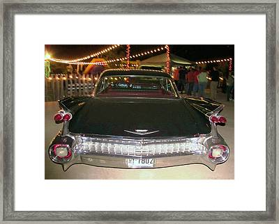 Rear View Black And Chrome Beauty Framed Print by Donna Wilson