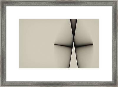 Rear View Framed Print by GJ Blackman