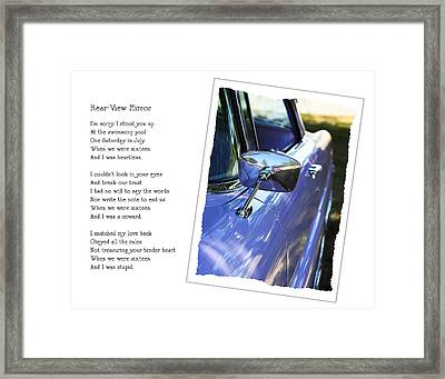Rear-view Mirror Framed Print by Rebecca Cozart