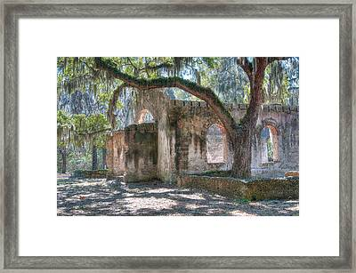 Rear View Of The Chapel Of Ease Framed Print by Scott Hansen