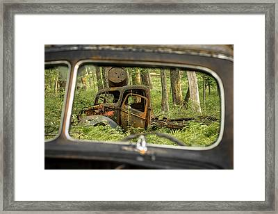 Rear View Framed Print by Sara Hudock