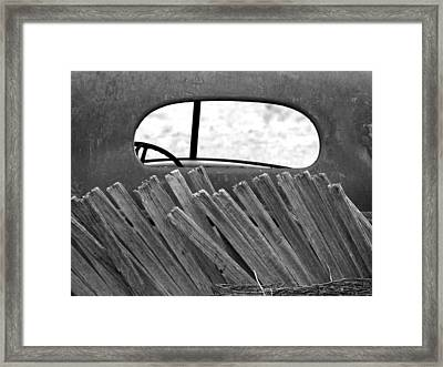 Rear View Framed Print