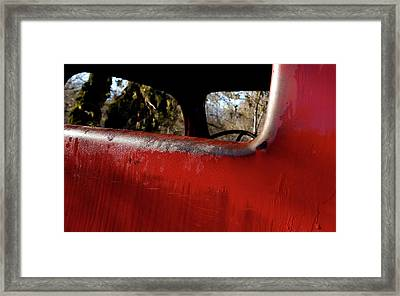 Rear View - Vintage Dodge Truck Framed Print by Steven Milner