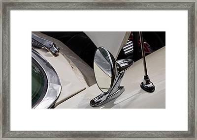 Framed Print featuring the photograph Rear View Wing Mirror Chrome by Mick Flynn