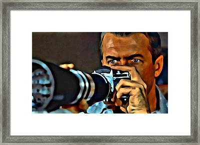 Rear Window Framed Print by Florian Rodarte