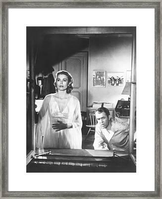 Rear Window, From Left Grace Kelly Framed Print by Everett
