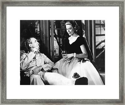 Rear Window, From Left James Stewart Framed Print by Everett