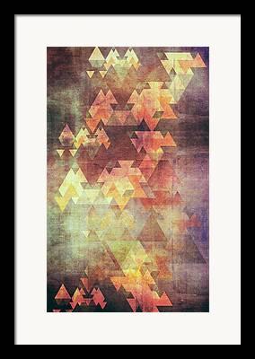 Triangles Framed Prints