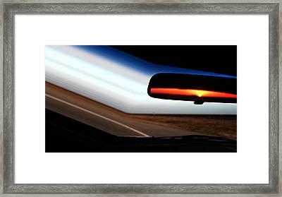 Rearview Sunset Framed Print