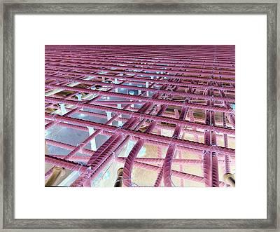Rebar 7 Framed Print by Dietrich ralph  Katz