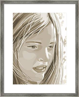 Rebecca Framed Print by Veronica Minozzi